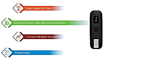 JioFi JDR740 (Dongle) 150Mbps Wireless 4