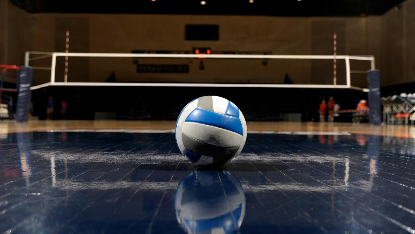 volleyball on court image