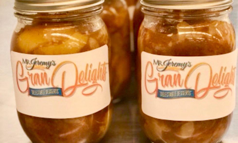 Peach Cobbler Mason Jar