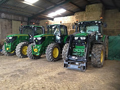 Latest fleet of John Deere Tractors