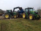 Tractor & Loader loading Bunning Spreader