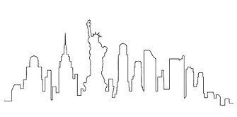 NYC skyline illustration