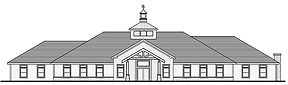 black and white illustratin of the clubhouse in Center Mor