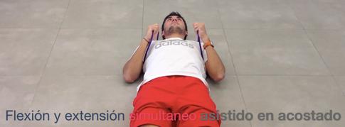 Flexión y estensión de hombros simultaneo