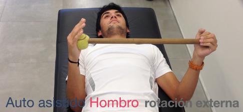 Auto asistido rotación externa de hombro