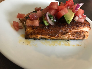 Blackened Salmon with Simple Pico