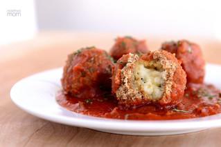 Mozzarella Meatball Bake