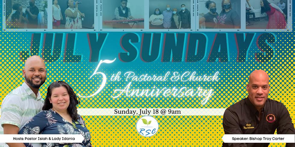Sunday Morning Anniversary Worship! Speaker: Bishop Troy Carter