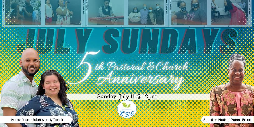 Sunday Afternoon Anniversary Worship! Speaker: Mother Donna Brock