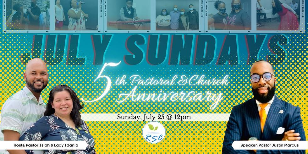 Sunday Afternoon Anniversary Worship! Speaker: Pastor Justin Marcus