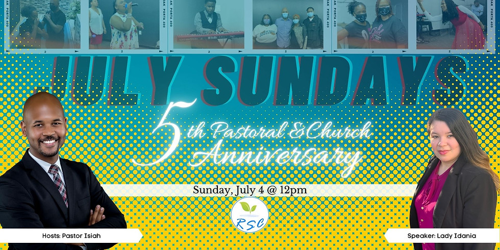 Sunday Afternoon Anniversary Worship! Speaker: Lady Idania Tarlton