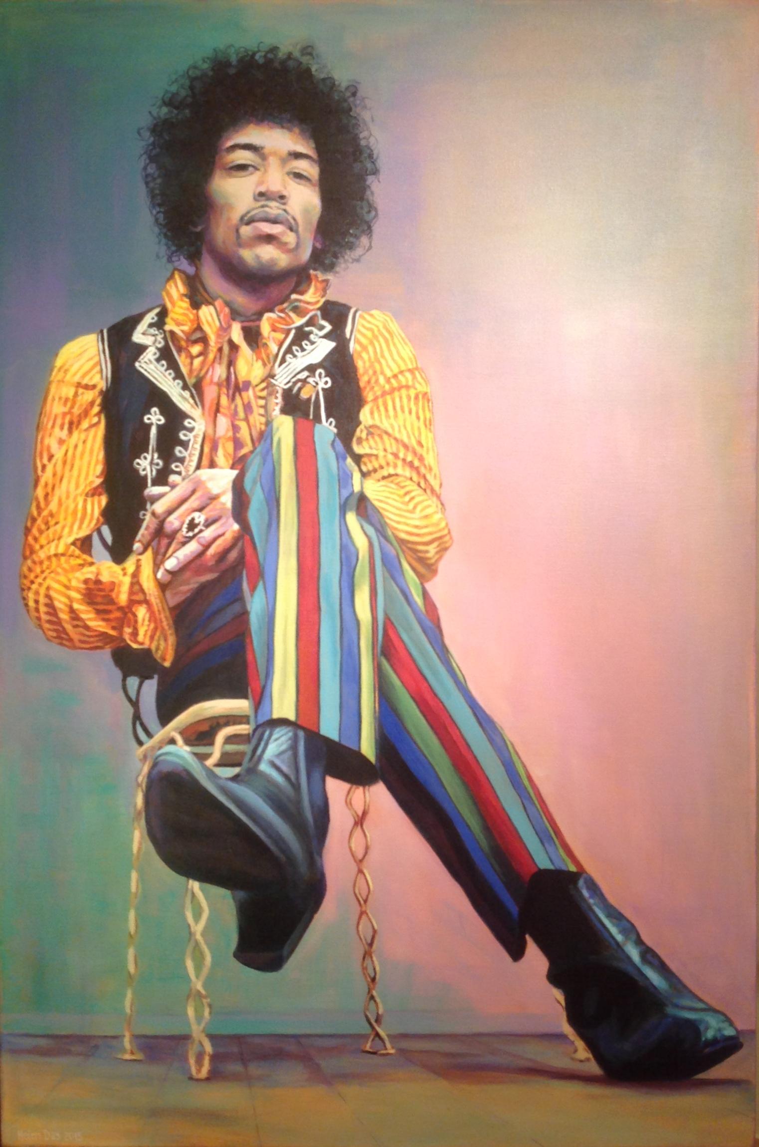 Jimi's stripey trousers