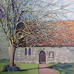 Windswept tree at St James