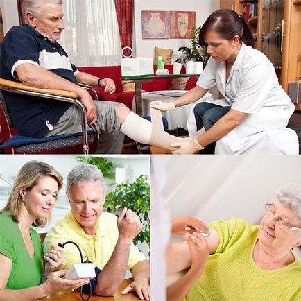Collage Behandlungspflege, Verhinderungspflege und zusätzliche Betreuung