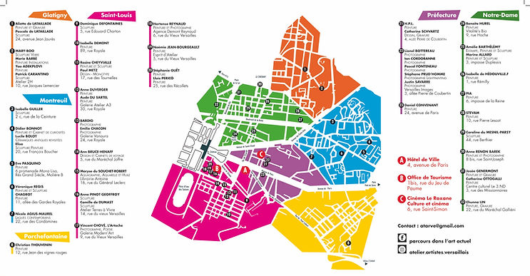 Plan ateliers ouverts versailles 2018 -