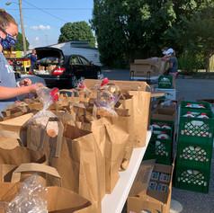 Food Distribution outside!