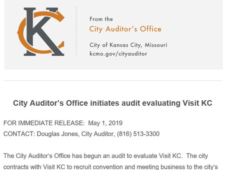 What Tony's is saying about the City Audit of Visit KC