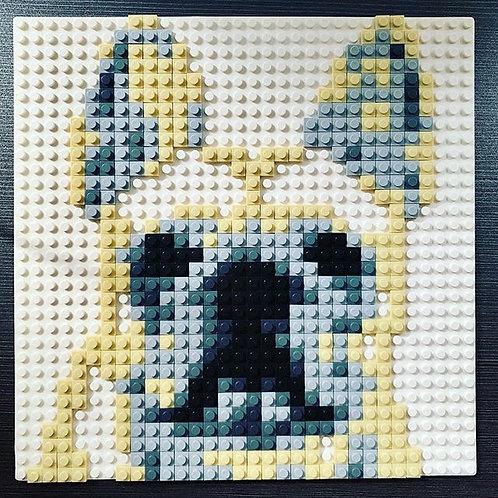 French Bulldog brick puzzle