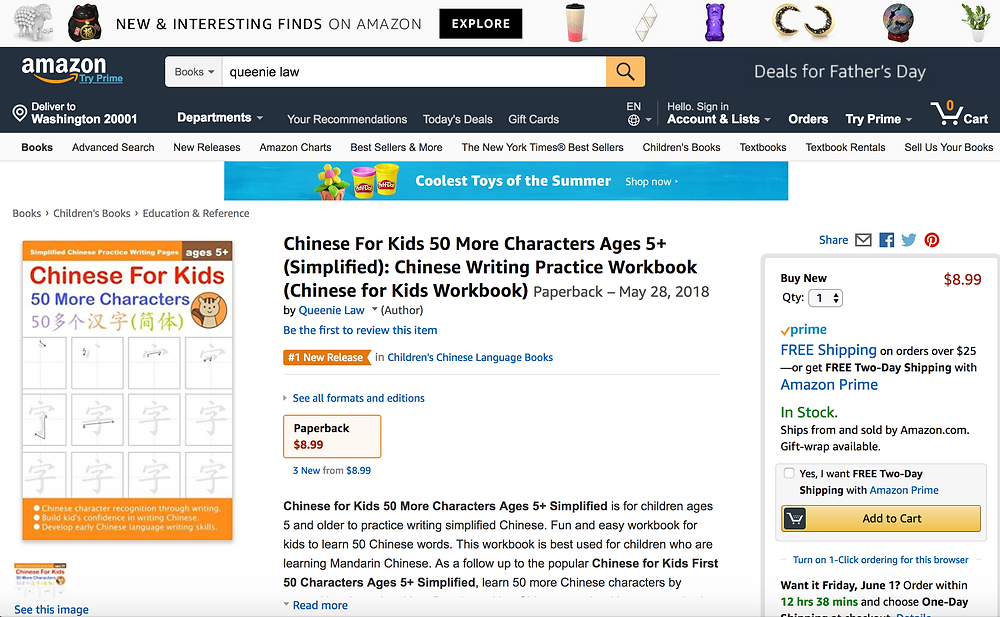 Chinese for Kids Practice Workbook