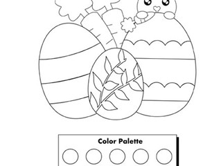 Free Coloring Page: Printable Cute Easter Bunny