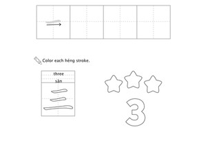 Free Printable: Chinese For Kids Kindergarten ages 5-6