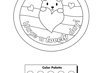 Free Coloring Page: Printable Valentine's Day