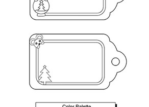 Free Coloring Page Printable Holiday Gift Tags