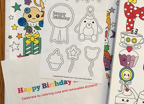 I Am Cute Birthday Stickers Coloring