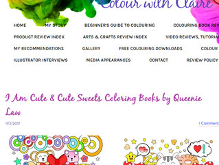 Review: Cute Sweets & I Am Cute Coloring Book with Markers