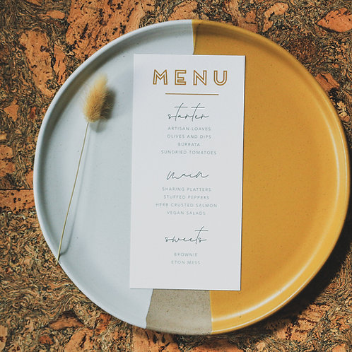 let love run wild | menus