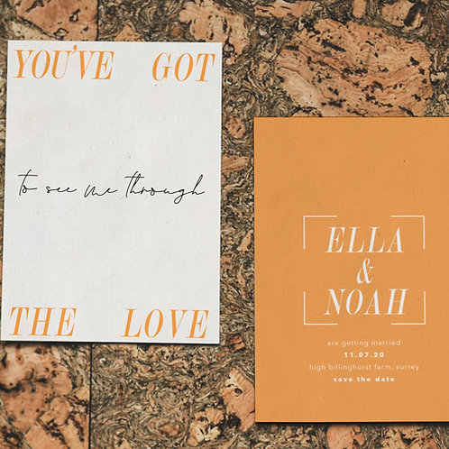 you've got the love  | save the dates