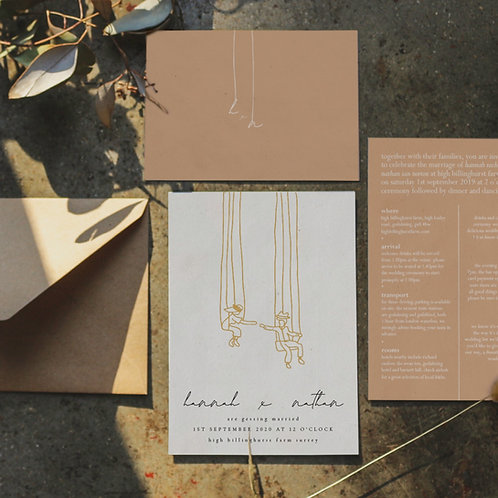 meaning of love | invitation suite
