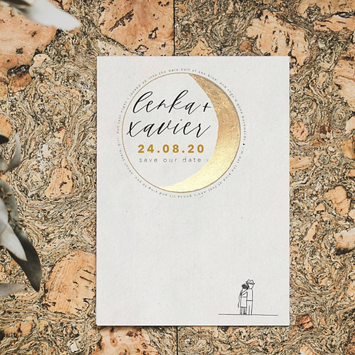 take me to the moon  | save the dates