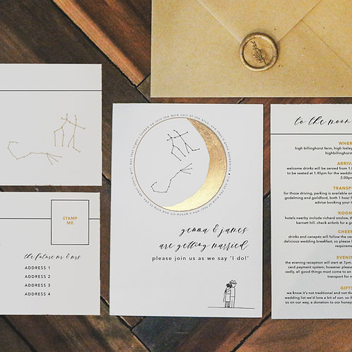 take me to the moon | invitation suite