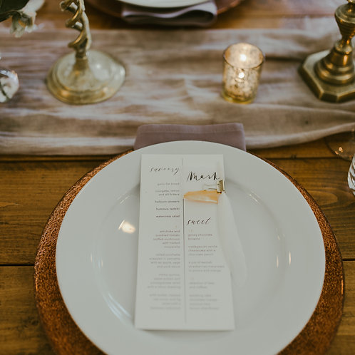 love is the music | menus + place cards