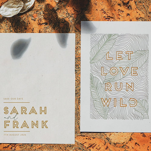 let love run wild  | save the dates