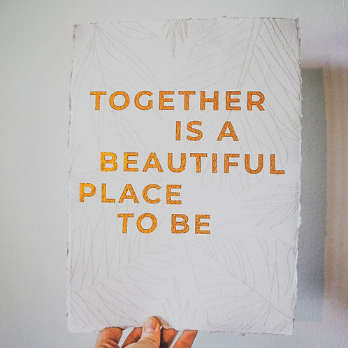 charity NHS print | together is a beautiful place to be