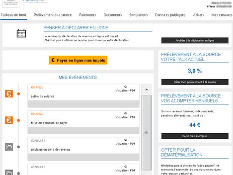 Prélèvement à la source: le site internet des impôts a été adapté