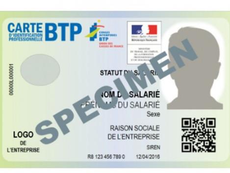 Entreprise du BTP : avez-vous votre nouvelle carte professionnelle ?