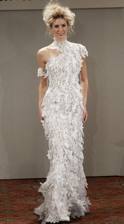 WHITE FEATHERS DRESS