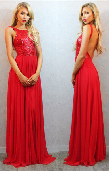 RED GALA DRESS