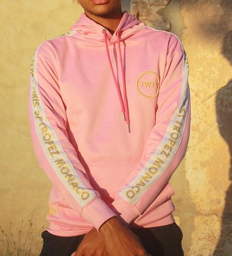 Jet Leg Hoodie | Pink Gold