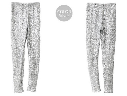 SILVER/WHITE LEGGINS
