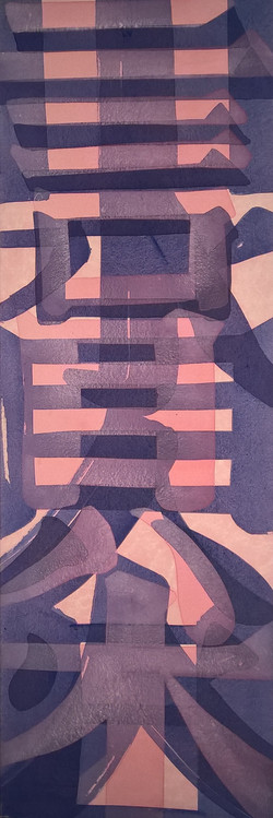 Calligraphy Abstract (pink)