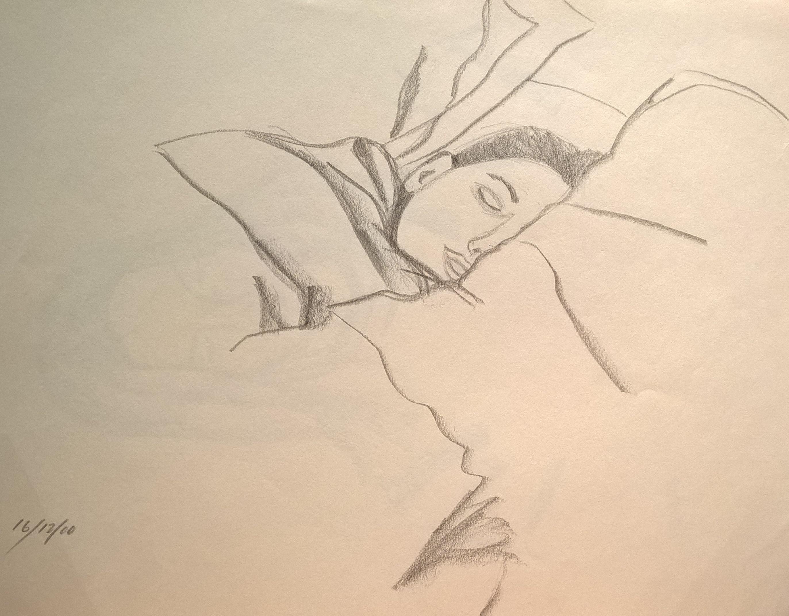 Kim tucked up
