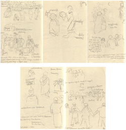 Marching for Burma - Drawings1-5