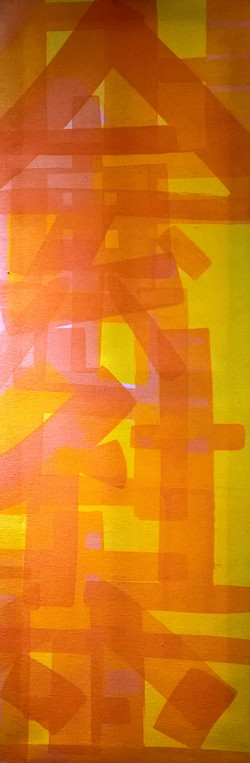 Calligraphy Abstract (yellow)