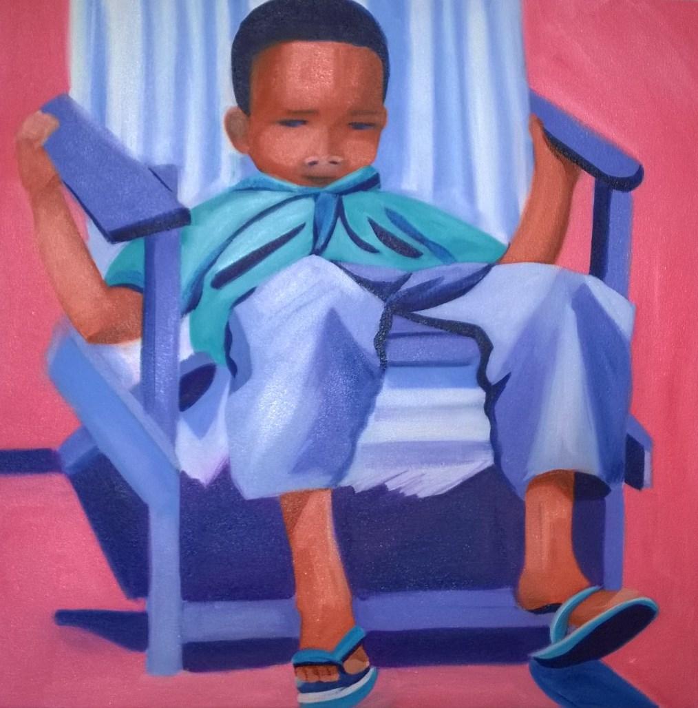 Boy in deck chair no 3