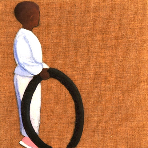 Africa Journal: Boy with Tyre 1