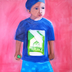 Boy with green ball no 5
